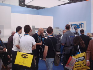 Crowd at the spm steuer booth